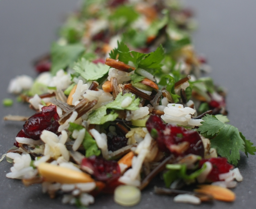 Cranberry and wild rice salad