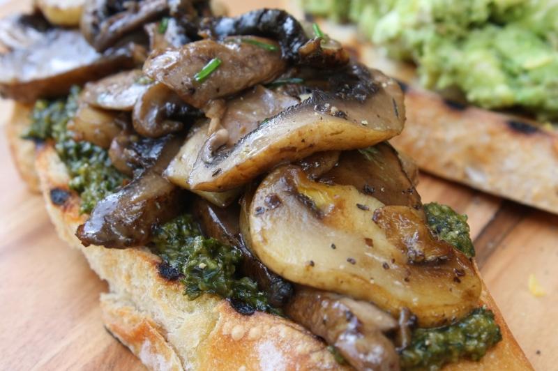 Bruschetta - mushroom closeup resized
