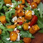 Pumpkin fetta and pine nuts 1 square