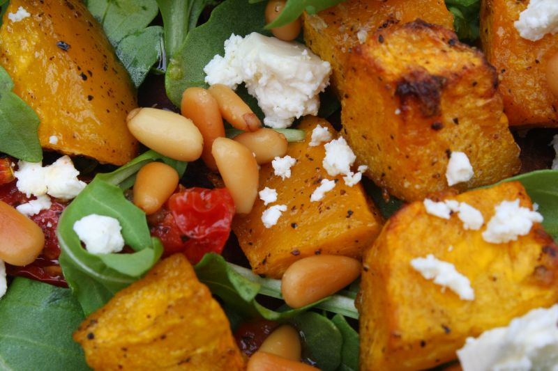 how to cook pumpkin for a salad