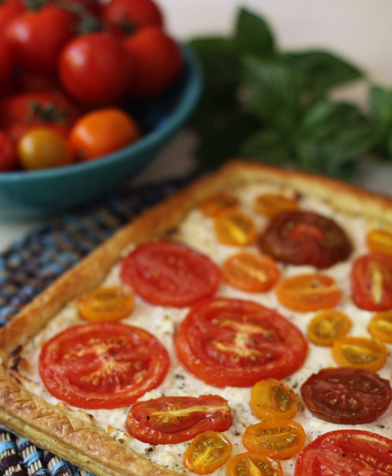 Ricotta and tomato tart 1 resized