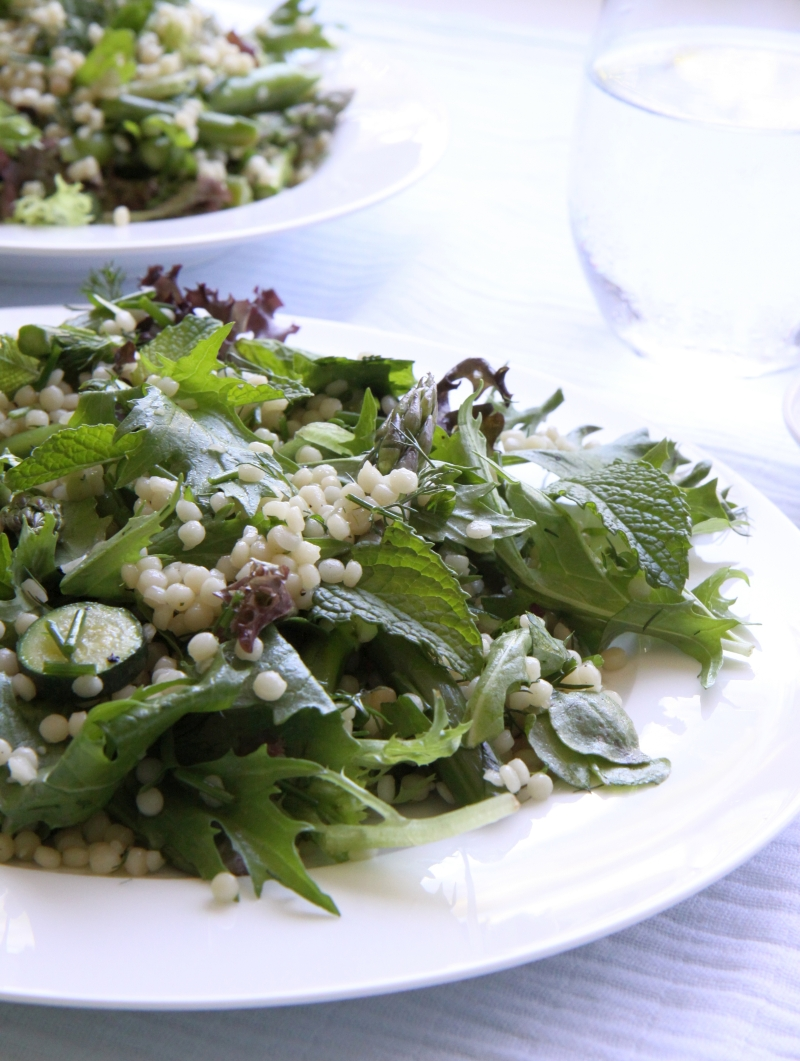Summer greens with cous cous