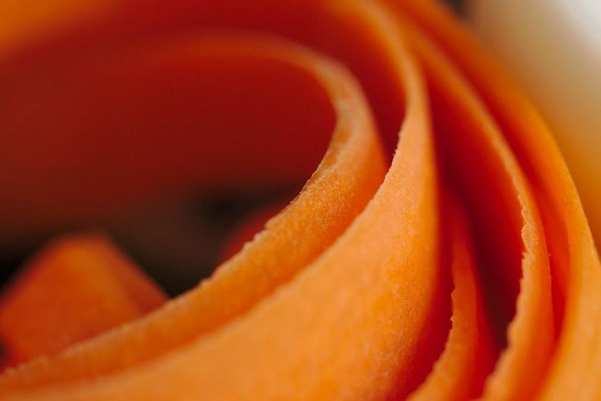 Strips of fresh carrot