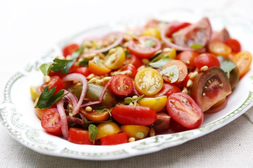 Tomato salad with sumac